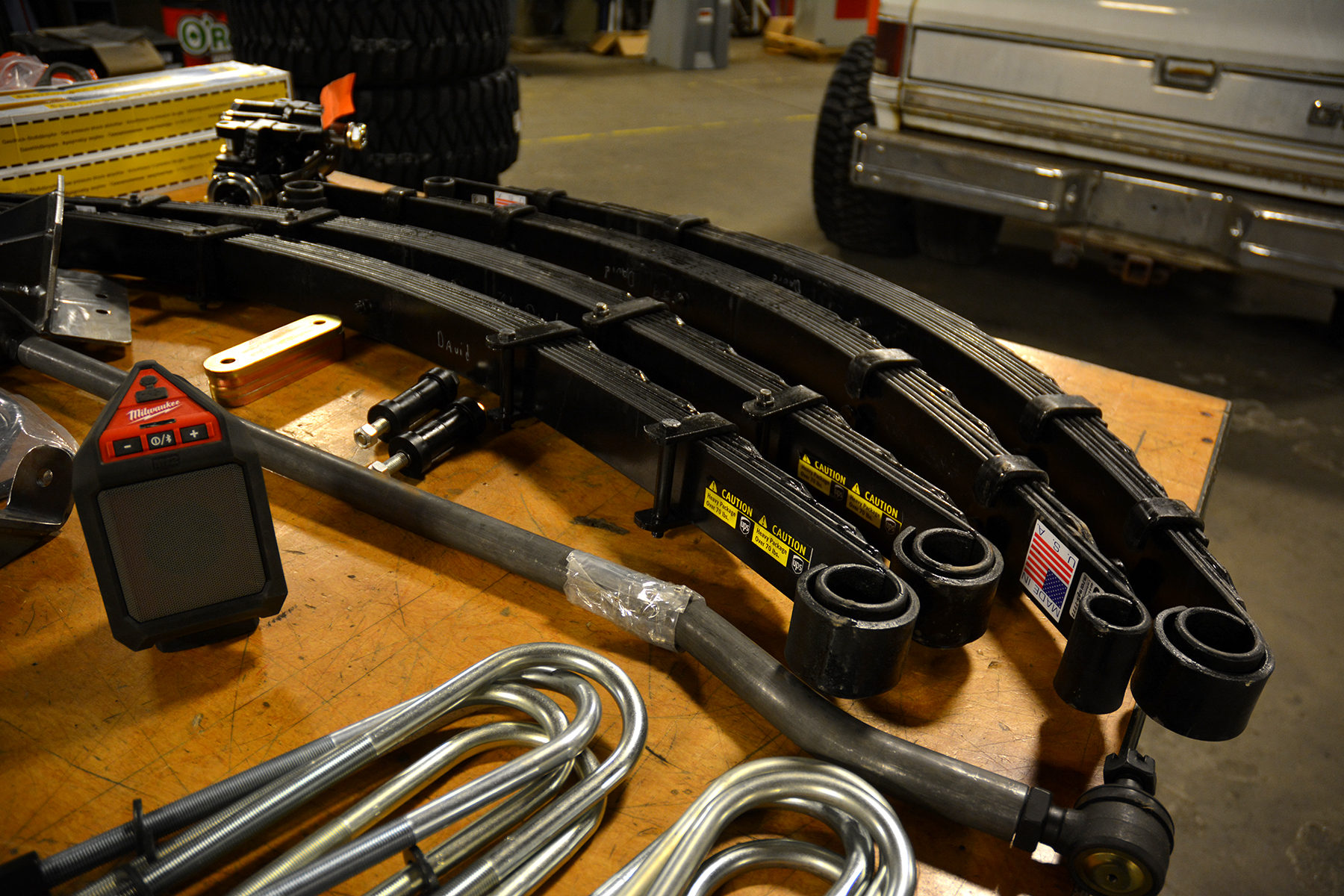 Stunt Double leaf springs