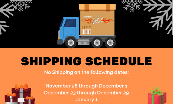 Holiday Shipping Schedule 2019
