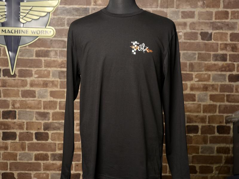 GearZ Black Long Sleeve Tee Front