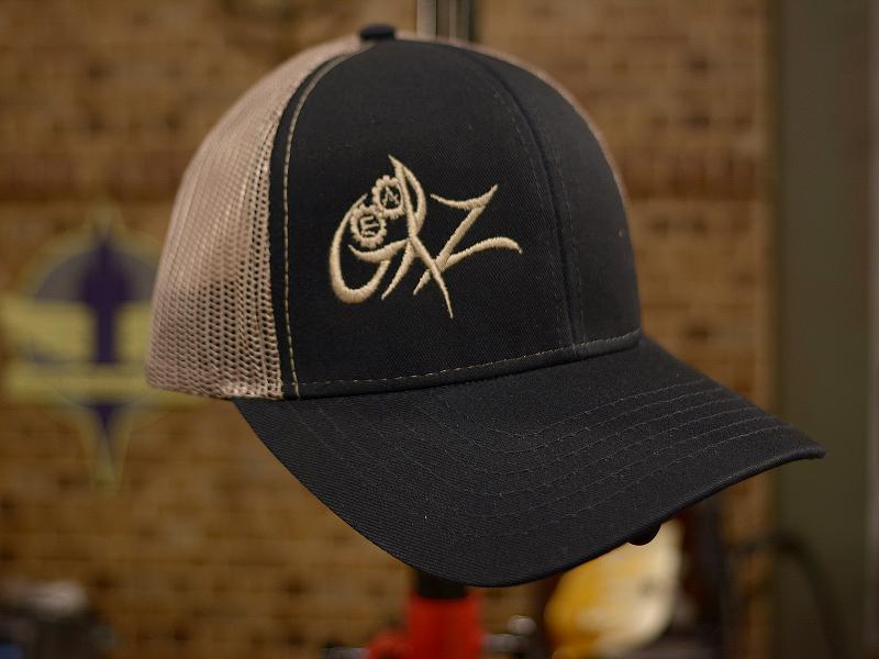 GearZ Black-Tan Mesh Logo Hat