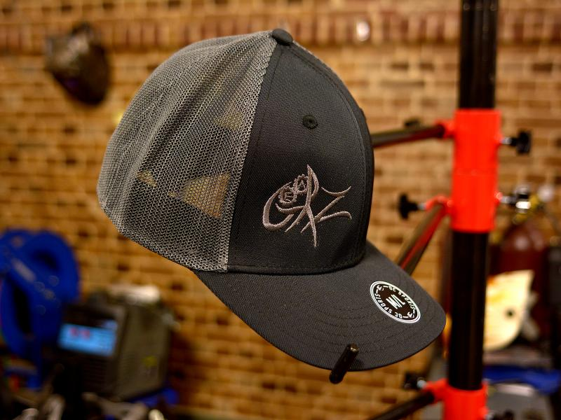 GearZ Black-Grey Mesh Logo Hat
